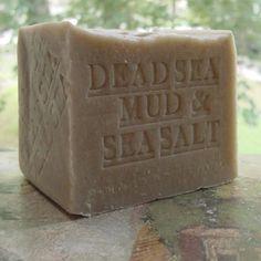 Natural Dead Sea Mud Soap 15 oz. Bar Dead Sea Salt (Exfoliate) Handmade Artisan (Unscented)
