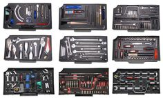 Peli 0450 tool case trays can be custom made fot quick visual check on tool set complete