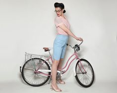 Vintage 1960s Jantzen Blue Shorts  Bermuda Pastel  by AlexSandras