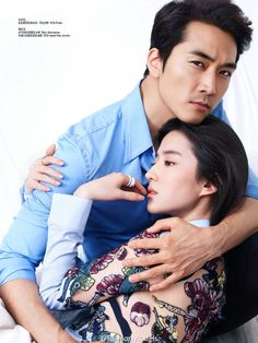 Liu Yifei, Song Seungheon for Femina | Cfensi// I'm so jealouse of Song Seungheon, he always has the prettiest co-stars.