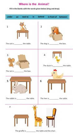 Ejercicio de Prepositions of place (in, on, under, in front of, behind, next to, between) English Worksheets For Kindergarten, English Worksheets For Kids, Kids Math Worksheets, Kindergarten Learning, English Activities, Activities For Kids, English Grammar For Kids, Teaching English Grammar, English Lessons For Kids