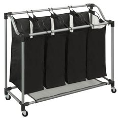 "Honey-Can-Do Heavy Duty Quad Laundry Sorter; $31.85 15"" deep 36"" wide, 31"" high (about)"