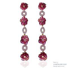 Tourmaline flower earrings #jewellery