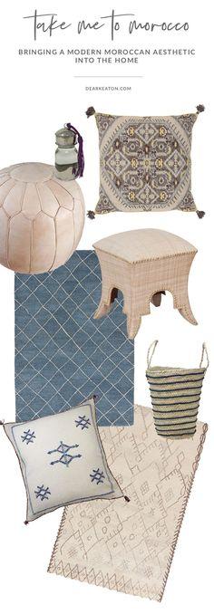 Take Me to Morocco – Global Style Inspiration – Dear Keaton – Modern Modern Moroccan Decor, Moroccan Decor Living Room, Moroccan Home Decor, Moroccan Design, Moroccan Style, Home Decor Bedroom, Modern Decor, Moroccan Bedroom, Shabby Chic Christmas Decorations