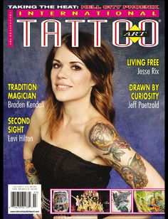 My first tattoo magazine ever. Thanks to the morning glory face of tattooed doll, Taylor Nicole. Tattoo Magazines, Cover Tattoo, Digital Magazine, First Tattoo, The Magicians, Tattoos, Face, Doll, Books
