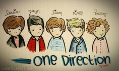 One Direction drawing one direction zayn malik liam payne louis tomlinson niall horan harry styles one direction drawing!!!!