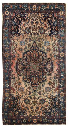 Antique Ferahan Sarouk Rug    Hand-knotted in Persia  Circa 1910