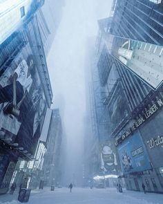 It's snowing again here in Brooklyn...which probably means I'm about to go out shooting!This is from when @gmathewsva and I went out during Jonas the great blizzard of 2016 in Times Square at about 7 AM the first morning. Bladerunner Edit.  Thanks to @nycprimeshot @what_i_saw_in_nyc @ig_captures and @colorofnewyork for featuring my work!  Camera: Nikon D7000 Lens: Nikkor 10-24 @ 10mm ISO: 250 Aperture: F8 Exposure: 1/25s NEF (RAW) format Post-processing/Edit: Lightroom PS Mobile Snapseed…