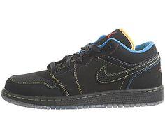 Nike Youth Air Jordan 1 Phat Low (GS), Size 4, Black/Grn Bean Nike. $99.99