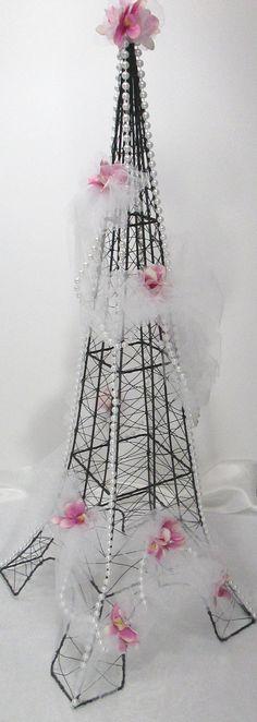 Eiffel Tower Paris Bridal Shower Centerpiece by SparkleCreativeD