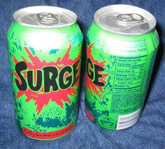 Surge soda. It was green