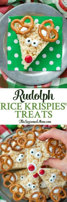 These Rudolph Rice Krispies® Treats are an easy Christmas dessert that your children can help prepare, making the bars a perfect addition to your festive holiday platters. #RiceKrispies #ad @RiceKrispies #Treats4Toys