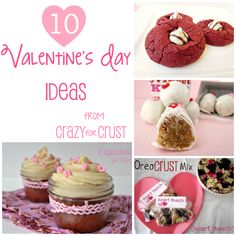 10 Valentine's Ideas from the www.crazyforcrust.com archives! Red Velvet, truffles, brownies, pie, and more! #valentine