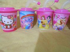 vasos x 10 unidades souvenirs mickey kitty sofia frozen etc