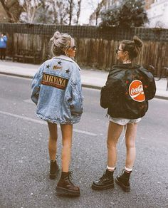 Jean Jacket outfits – Page 5155782726 – Lady Dress Designs Edgy Outfits, Mode Outfits, Retro Outfits, Grunge Outfits, Fall Outfits, Summer Outfits, Fashion Outfits, Fashion Tips, Dr Martens Outfit