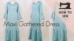 e613c8529b2445 DIY Maxi Gathered Dress   DIY Abaya   Gathered Dress - YouTube Diy Videos