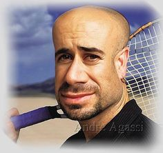 Andre Agassi Caricature Watch this***