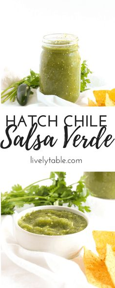 Hatch Chile Salsa Verde is a delicious way to use hatch chiles and to spice up any Mexican dish! Hatch Recipe, Hatch Green Chili Recipe, Green Chili Salsa, Green Chili Recipes, Green Chile Salsa Recipe, Green Chilis, Hatch Chile Salsa, Hatch Chili, Chimichurri
