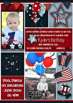 4th Of July Birthday Party Invitation 2nd Parties Invitations