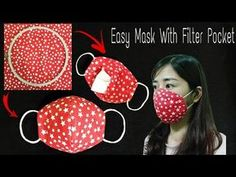 Make a face mask at home DIY face mask No sewing machine Simple mask with filter bag Sewing Hacks, Sewing Tutorials, Sewing Crafts, Sewing Projects, Sewing Patterns, Beginners Sewing, Easy Face Masks, Diy Face Mask, Diy Couture