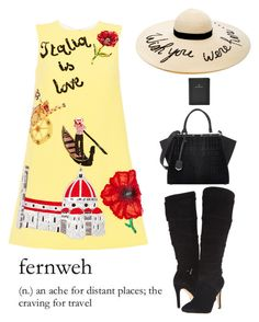 """Fernweh"" by juliehalloran ❤ liked on Polyvore featuring Dolce&Gabbana, Eugenia Kim, GUESS, Fendi and FOSSIL"