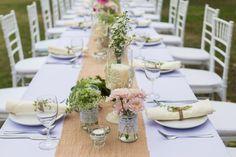 Ideen für die Verwendung von Jute & Spitze bei der Hochzeit