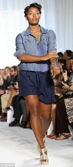 Toccara Jones:Prominent plus-size models, including Toccara Jones and Lizzie Miller, paraded clothes from American fashion label OneStopPlus.com, which caters for women a UK size 16 and up, to prove 'curvy women are equally as beautiful and as fashionable'.  The event was hosted by the model Emme, who has become an icon to women with a fuller figure.      Read more: http://www.dailymail.co.uk/femail/article-1312440/New-York-Fashion-Week-Size-16-models-hit-catwalks.html#ixzz253ejagNS
