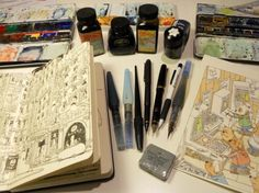 Inspiration Hut — 30 Incredible and Intricate Moleskine Sketches