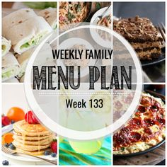 Weekly Family Meal Plan #133