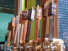 The taps at Grand Lake Brewery.  #GrandLake #Colorado  (I took this photo & I LOVE it)