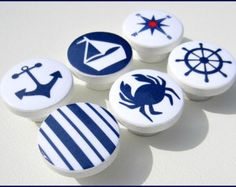 Nautical Knobs Anchor Lighthouse Helm by SweetPetitesBoutique
