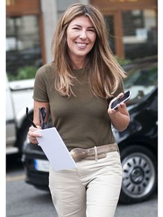 Our very own Nina Garcia looks incredibly chic for a long day on the runway!
