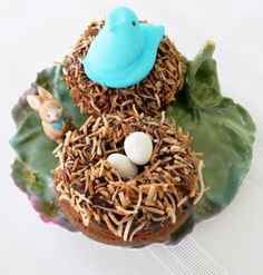 Last chance to win two 6-cup Wilton Doughnut pans + bag of Cadbury Mini Eggs! Bird Nest Donuts by Foodtastic Mom #Easter #donuts #doughnuts #giveaway