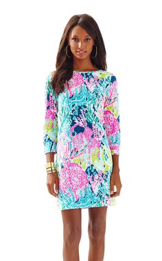 Marlowe Boatneck T-Shirt Dress - Let's Cha Cha - Lilly Pulitzer Indigo Lets Cha Cha