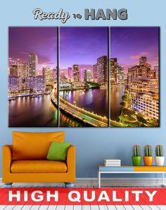 Miami Canvas, Miami wall decor, Wall Art Decor, Skyscraper canvas, Large canvas art, Canvas wall art, City backdrop, Multi panel canvas    High quality canvas prints! #interiordesign #interiorstyle #decorating #decorate #decor #artforsale #CanvasPrint #CanvasPrints #CanvasArt #homedecor #officedecor #canvas #CanvasMafia #ideaforgift