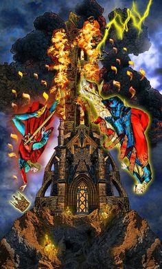 The tower Tarot illuminati