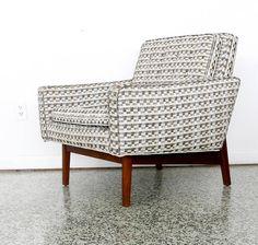 Jens Risom; Walnut Lounge Chair for Jens Risom Design Inc., 1950s.