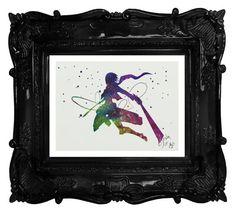 Attack on Titan archival fine art print Mikasa by TentakittyInk
