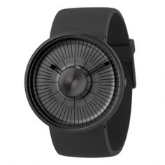 Hacker ultra black, designed by Michael Young for ODM. Available at Dezeen Watch Store: www. Cool Watches, Watches For Men, Casual Watches, Dezeen Watch Store, Mens Designer Watches, Beautiful Watches, Cool Stuff, Stuff To Buy, Mens Fashion