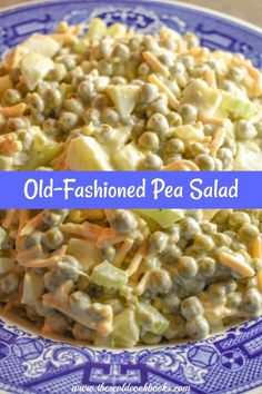 This Old-Fashioned Pea Salad is simple to make but is always a crowd-pleaser at our family gatherings. You just mix together all the ingredients and serve. de guisantes Old-Fashioned Pea Salad Recipe Perfect for Pitch-Ins Pea Salad Recipes, Healthy Salad Recipes, Vegetable Recipes, Recipe For Pea Salad, Pea Salad With Bacon, Side Dish Recipes, Dinner Recipes, Dinner Menu, Green Pea Salad