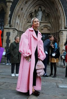 Jenny Walton spotted on the street at London Fashion Week. Photographed by Phil Oh.