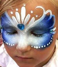 Frozen snow bling princess face painting fun!