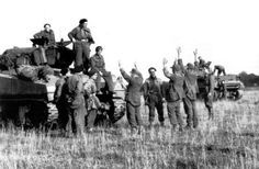 German soldiers are going to Polish captivity (Battle of Falaise).