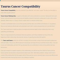 Revealed! Taurus Man and Cancer Woman Relationship Compatibility