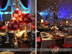 Centerpiece lighting and moving lights at the Gaylord Palms in Orlando, Florida. Lighting by www.keventlighting.com. Photography by www.asaadimages.com #weddingcenterpiece #weddingcenterpieces #centerpiecelighting #centerpiece #floralcenterpiece #uniquecenterpieces #indiancenterpieces