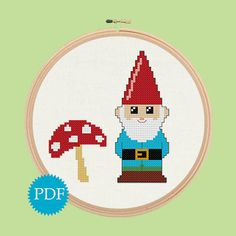 Hey, I found this really awesome Etsy listing at http://www.etsy.com/listing/120910346/cute-gnome-and-mushroom-cross-stitch