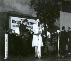 Patsy Cline on stage at the Grand Ole Opry