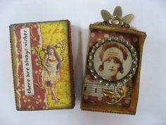 A couple of tiny matchbox shrines - PAPER CRAFTS, SCRAPBOOKING & ATCs (ARTIST TRADING CARDS)