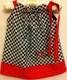 Little Ladies Start those Engines! Starting at $25.00, add $2.00 extra for 10-12T. Pillowcase dress is black/white check with red/white polka dot band. Your favorite race car drive's number is embroidered on your item. Just tell us your drivers number at the time of your order. See us on Facebook at Little Bitz Bo-tique.