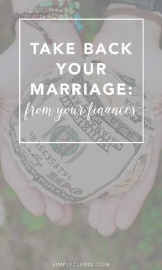 TAKE BACK YOUR MARRIAGE: From Your Finances - Finances tend to be a hot and controversial topic in marriage. If we are not careful, finances can be very stressful and put huge strains on our marriage. Click the link below to read more: